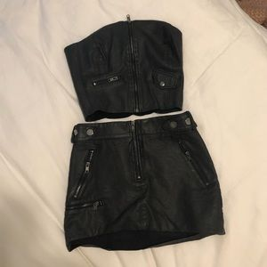 h&m 2 piece skirt set